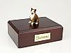 Bull Terrier, Brindle  Sitting Dog Figurine Cremation Urn