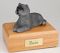 Cairn Terrier Gray Laying Dog Figurine Cremation Urn