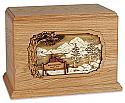 Soul Mates Wood Companion Cremation Urn