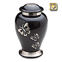 Butterfly Tribute Cremation Urn Black