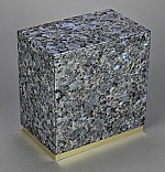 Blue Pearl Granite Adult Cremation Urn with Bottom Trim