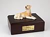 Labrador, Yellow-Red Laying Dog Figurine Cremation Urn