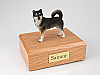 Alaskan Malamute Black-White Standing Dog Figurine Cremation Urn