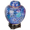 Azure Garden Cloisonne Cremation Keepsake Cremation Urn