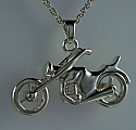 Motorcycle Pendant Memorial Urn