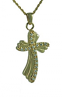 Gold rocky cross jewelry Cremation Urn
