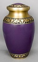 Amethyst Brass Alexa III Cremation Urn
