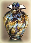 Bella Art Glass Small Cremation Urn