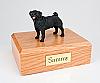 Pug, Black Standing Dog Figurine Cremation Urn