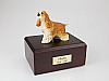 Cocker Spaniel, Tan Standing  Dog Figurine Cremation Urn