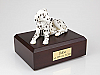 Dalmatian Black Spotted Dog Figurine Cremation Urn