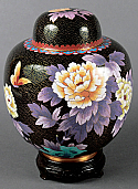 Small Garden Delight Cloisonne Cremation Urn