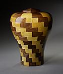 Harmony Black Walnut and Yellowheart Wood Cremation Urn