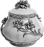 Pewter Iris Cremation Urn
