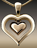 Gold Eternity Heart Cremation Pendant