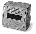 Pet Garden Marker Cremation Urn with Name Plate