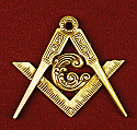 Masonic Applique Gold Finish