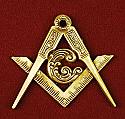 Masonic Applique Gold Finish