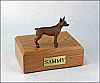 Miniature Pincher, Red-Brown Dog Figurine Urn
