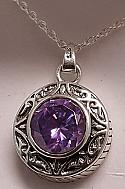 Amethyst 925 Silver Pendant Urn - Free Engraving