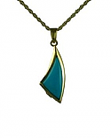 Gold Sail away turquoise pendant Cremation Urn