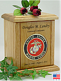 USMC Recessed Medallion Cremation Urn