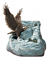 Eagle Cast Bronze Cremation Urn Keepsake