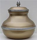Pewter Gold Sierra Cremation Urn