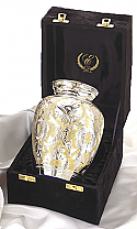 Medium Sized SilverGold Cremation Urn
