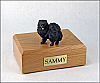 Pomeranian, Black Dog Figurine Cremation Urn