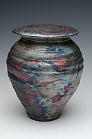 Simple Elegant Raku Cremation Urn