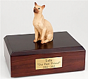 Siamese, Tan Cat Figurine Cremation Urn