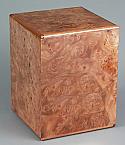 Elise Elm Burl Hardwood Cremation Urn