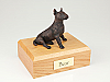 Bull Terrier Bronze Sitting Dog Figurine Cremation Urn