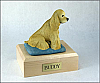 Cocker, Blond - Sitting  Dog Figurine Cremation Urn