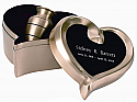Brushed Brass Cremation Keepsake Urn Set
