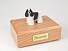 Cocker, Black/White - Standing  Dog Figurine Cremation Urn