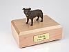 Staffordshire Bull Terrier, Brindle Dog Figurine Cremation Urn