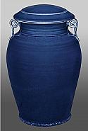 Corinthian Blue Porcelain Companion Cremation Urn
