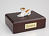 Jack Russell Terrier, Brown White  Dog Figurine Cremation Urn