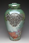 Celtic Dragon Raku Cremation Urn