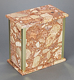 Breccia Pernice Adult Cremation Urn with Trim