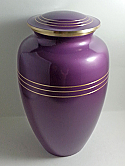 Adult Classic Violet Brass Cremation Urn