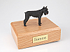 Schnauzer Giant, Black Dog Figurine Cremation Urn