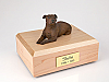Staffordshire Terrier Laying Dog Figurine Cremation Urn