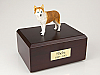 Husky, Red - blue eyes  Dog Figurine Cremation Urn