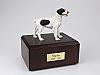 Brittany, Black Standing Dog Figurine Cremation Urn