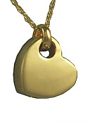 Gold Sideways Heart Pendant Cremation Urn
