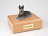 Schnauzer, Black-Silver Dog Figurine Cremation Urn