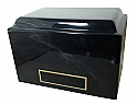 Black Marble Adult Cremation Urn with Engraving